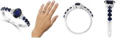 LALI Jewels Sapphire (1-5/8 ct. t.w.) & Diamond (1/20 ct. t.w.) Ring in 14k White Gold