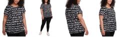 Calvin Klein Plus Size Logo-Print Top