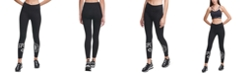 DKNY Sport Split-Logo High-Waist Leggings