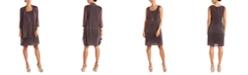 R & M Richards R&M Richards Sleeveless Metallic Dress and Jacket