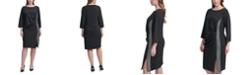 Calvin Klein Plus Size Embellished-Side Sheath Dress