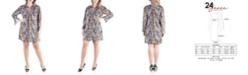 24seven Comfort Apparel Women's Plus Size Paisley Print Shift Dress