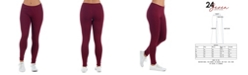 24seven Comfort Apparel Women's Plus Size Ankle Length Stretch Leggings