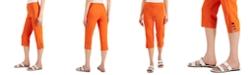 JM Collection Petite Lattice-Hem Cropped Pants, Created for Macy's