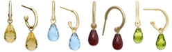 Macy's Citrine Hoop Earrings (6-1/2 ct. t.w.) in 14k Gold (Also in Blue Topaz, Rhodolite Garnet & Amethyst)