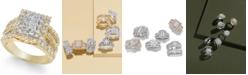 Macy's Diamond Cluster Ring (2 ct. t.w.) in 14k Gold