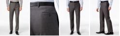 Calvin Klein Pants Charcoal Pindot 100% Wool Modern Fit