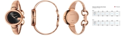 Gucci Women's Swiss Guccissima Rose Gold-Tone PVD Bangle Bracelet Watch 36mm YA134305