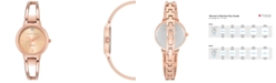 Anne Klein Women's Diamond Accent Rose Gold-Tone Stainless Steel Bracelet Watch 30mm