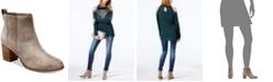 INC International Concepts I.N.C. Fainn Block-Heel Booties, Created for Macy's