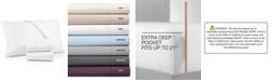 AQ Textiles Bergen 4-Pc. Queen Extra Deep Pocket Sheet Set, 1000 Thread Count 100% Certified Egyptian Cotton