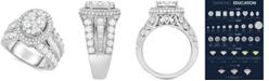 Macy's Diamond Oval Cluster Ring (3 ct. t.w.) in 14k White Gold
