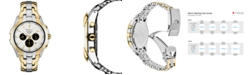 Seiko Men's Solar Chronograph Two-Tone Stainless Steel Bracelet Watch 43mm