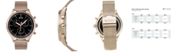 BOSS Hugo Boss Men's Chronograph Companion Carnation Gold-Tone Stainless Steel Bracelet Watch 42mm