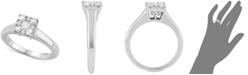 Centennial Diamond Square Cluster Diamond Enagement Ring (1/2 ct. t.w.) in 14k White Gold