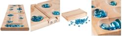 "Trademark Global Hey! Play! Wooden Folding Mancala Game, 0.75"" x 17.5"" x 5.5"""