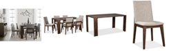 Furniture Closeout! Crosby Dining Furniture, 7-Pc. Set (Table & 6 Upholstered Side Chairs), Created for Macy's