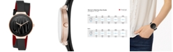 DKNY Women's Astoria Black Leather Wrap Strap Watch 38mm, Created for Macy's