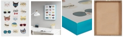 JLA Home Intelligent Design Hip Cat Printed Dimensional Box Wall Art