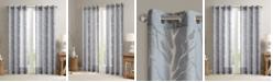 "Madison Park Averil 50"" x 63"" Sheer Burnout Bird Grommet Curtain Panel"
