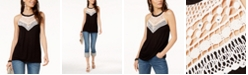INC International Concepts INC Crocheted Top, Created for Macy's