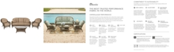 Furniture Sandy Cove Outdoor Wicker 4-Pc. Seating Set (1 Sofa, 2 Club Chairs and 1 Coffee Table) Custom Sunbrella®, Created for Macy's