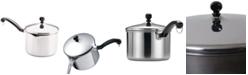 Farberware Classic Stainless Steel 3-Qt. Straining Saucepan & Lid