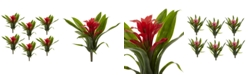 """Nearly Natural 6-Pc. 11"""" Red Bromeliad Artificial Flower Stem Set"""