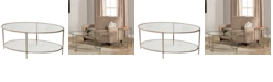 Hillsdale Corbin Coffee Table with Top Glass Shelf