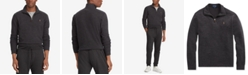 Polo Ralph Lauren Men's Big & Tall Estate-Rib Quarter-Zip Pullover Sweater
