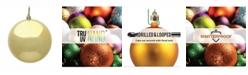 "Vickerman 12"" Gold Shiny Ball Christmas Ornament"