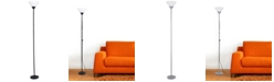 All The Rages Simple Designs 1 Light Stick Torchiere Floor Lamp