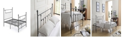 Hodedah Complete Metal Full-Size Bed with Headboard, Footboard, Slats and Rails