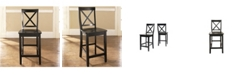 """Crosley X-Back Bar Stool With 24"""" Seat Height (Set Of 2)"""
