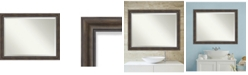 Amanti Art Rustic Pine 45x35 Bathroom Mirror