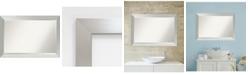 Amanti Art Brushed Sterling 40x28 Bathroom Mirror