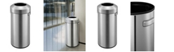 EKO Urban Commercial 90L Round Open Top Trash Can