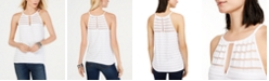 INC International Concepts INC Illusion-Stripe Halter Top, Created for Macy's