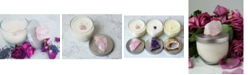 Lifestone Gratitude Natural Soy Candle with Rose Quartz Crystal: Geranium & Lavender Essential Oils