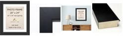 """Amanti Art Corvino Black 20"""" X 24"""" Matted to 16"""" X 20"""" Opening Wall Picture Photo Frame"""