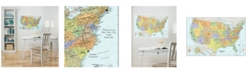 Brewster Home Fashions Usa Dry Erase Map