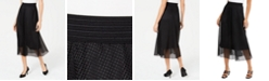 Alfani Mesh Midi Skirt, Created for Macy's