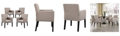 Modway Chloe Armchair Set of 4 in Gray