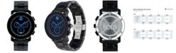 Movado Men's Swiss Chronograph Bold Large Black Polyurethane Bracelet Watch 44mm 3600101