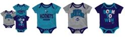 Outerstuff Charlotte Hornets 3 Piece Bodysuit Set, Infants (0-9 Months)