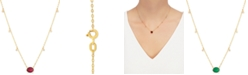 """Macy's Certified Ruby (1-5/8 ct.t.w.) & Diamond Accent 16-1/2"""" Pendant Necklace in 14k Gold (Also Available In Emerald)"""