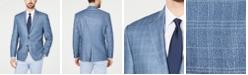 Lauren Ralph Lauren Men's Classic-Fit UltraFlex Stretch Blue Windowpane Plaid Sport Coat