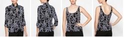Alex Evenings Glitter-Print Jacket & Top
