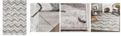 "Safavieh Adirondack Silver and Charcoal 5'1"" x 7'6"" Area Rug"