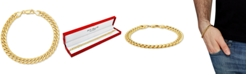 Italian Gold Men's Miami Cuban Link Bracelet in 10k Gold